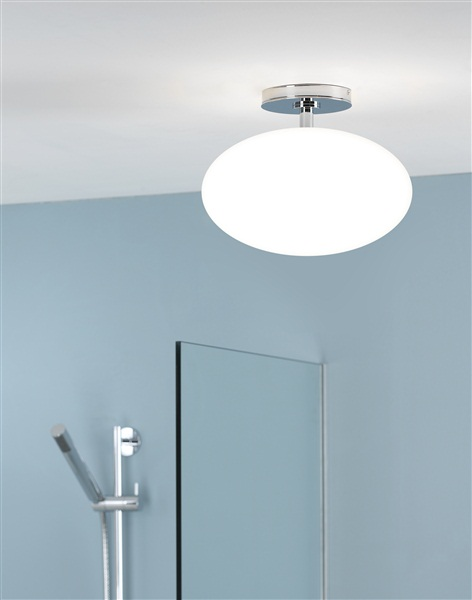 Ceiling lights with diffuser : Astro zeppo ceiling light chrome with opal diffuser