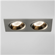 twin adjustable downlight, Aluminium