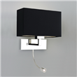 Rishiri  Grande LED, Modern wall light with LED light switched, Polished Nickel