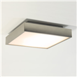 Kiho  Square ceiling light with white glass diffuser, Matt Nickel