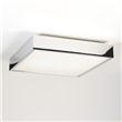 Kiho  Square ceiling light with white glass diffuser, Polished Nickel