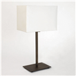 Rishiri  Modern slim style table lamp with square base, Bronze