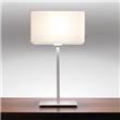 Rishiri  Modern slim style table lamp with square base, Polished Nickel