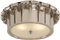 Vivien Flush Mount in Gun Metal with Frosted Glass, Polished Nickel