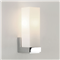 Kiho  Chrome wall light with white opal glass diffuser