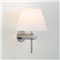 Oshima  Wall Light, Bathroom Light with Opal Glass Shade, Matt Nickel