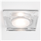 Mori  Square, Glass and Chrome Downlight, 12V