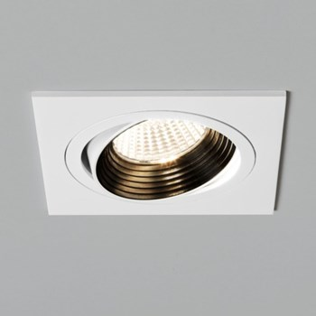 Square Adjustable LED Downlight, White
