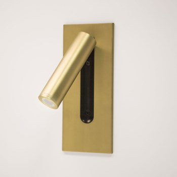 Mu  Unswitched Wall light, Gold