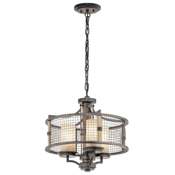 Elstead Ahrendale 3-Light Duo-Mount Pendant