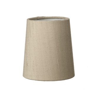 Candle Clip Silk Shade, Taupe