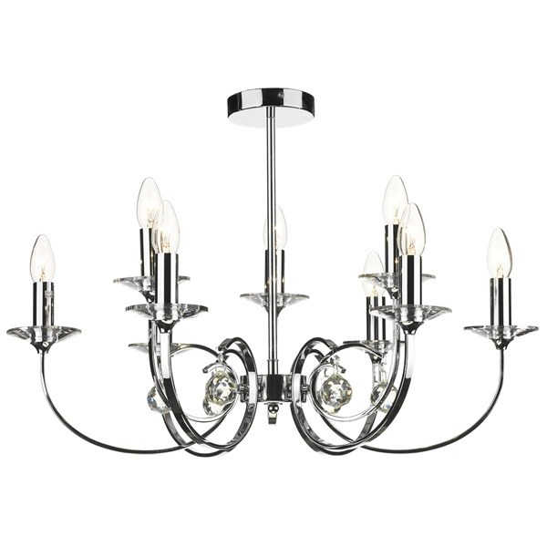 9 Light Dual Mount Pendant