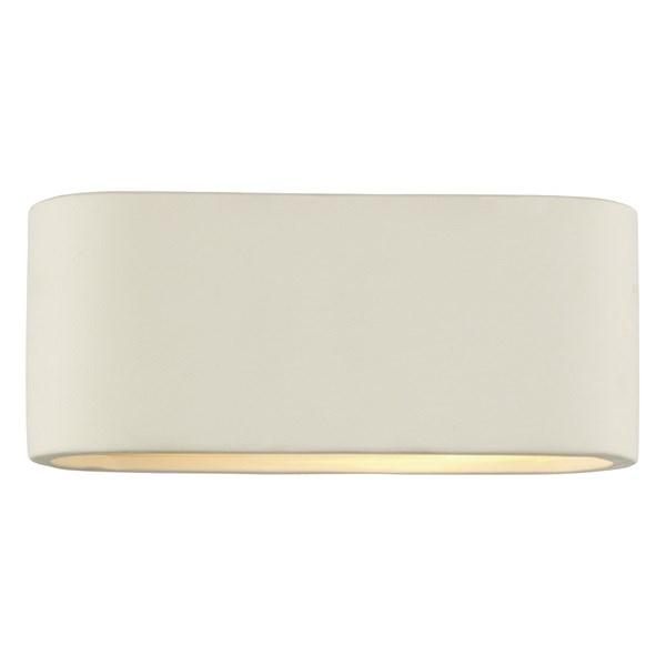 Farleigh  Modern 1 Light Circular Ceramic Wall Lamp