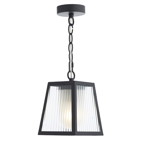 1 Light Pendant Lantern Black