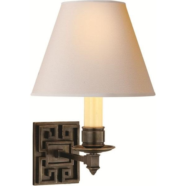 Valery  Single Arm Sconce With Natural Paper Shade