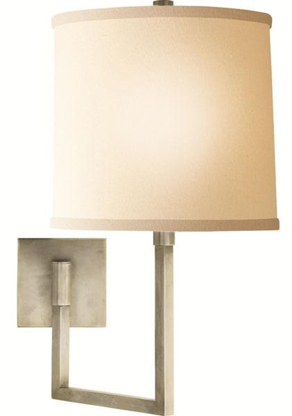 Aspect Large Articulating Sconce with Ivory Linen Shade
