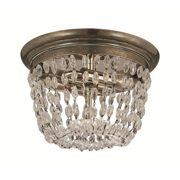 Small Flea Market Flush Mount with Seeded Glass