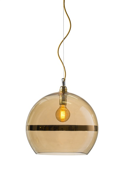Extra-Large Mouth Blown Glass LED Pendant