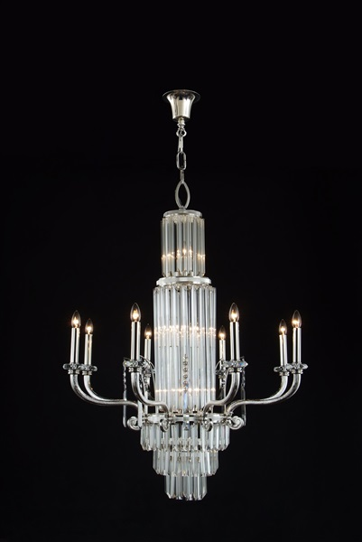 15 Light Crystal Glass Chandelier