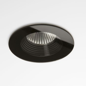 Fuji  Round, Bathroom Downlight, Black