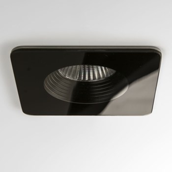 Fuji  Square, Bathroom Downlight, Black