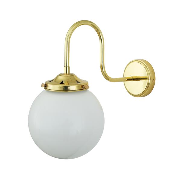Cuban  Blacktail, Glass Dome Brass Wall Light