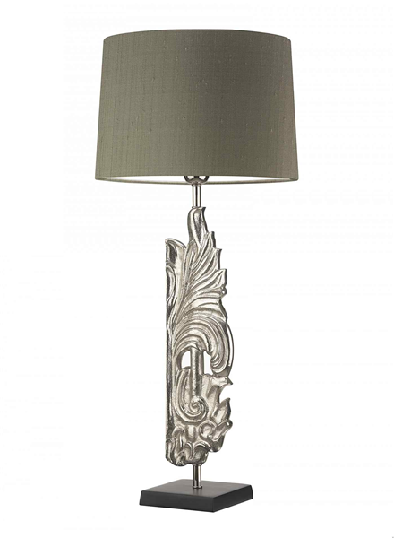 Table Lamp  in Nickel Including Shade