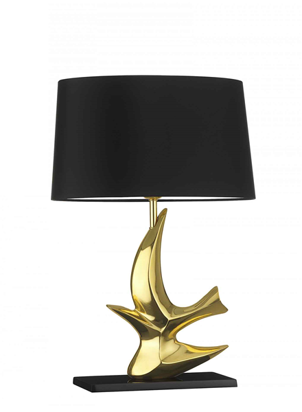 Medium Gold Table Lamp Including Shade
