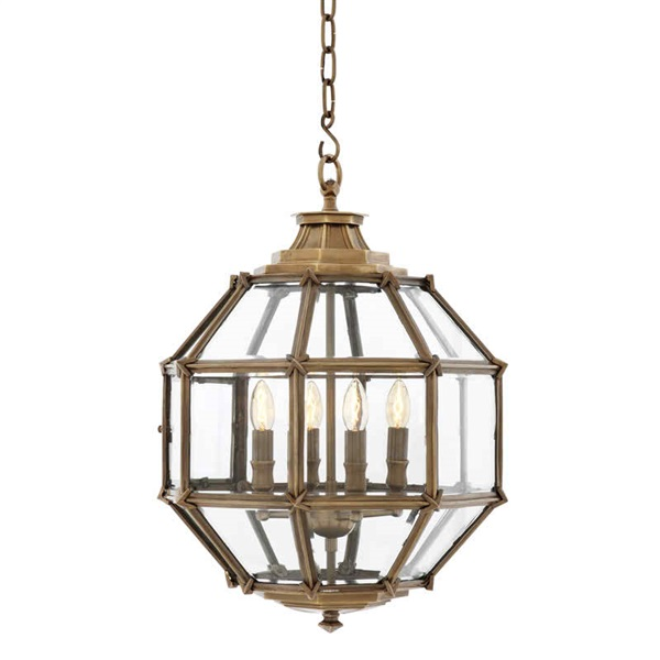 Small Pendant Lantern With Glass