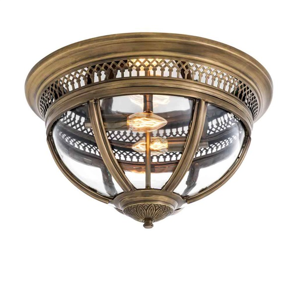 Ceiling Lamp With Clear Glass