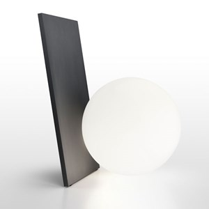 LED Aluminum Table Lamp with Blown Glass