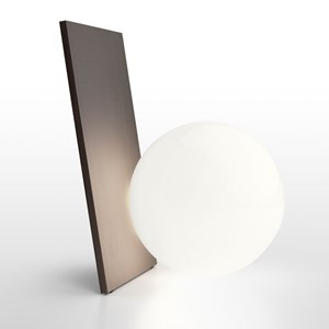 Extra T Aluminium LED Table Lamp Hand-Blown Opal Glass Diffuser