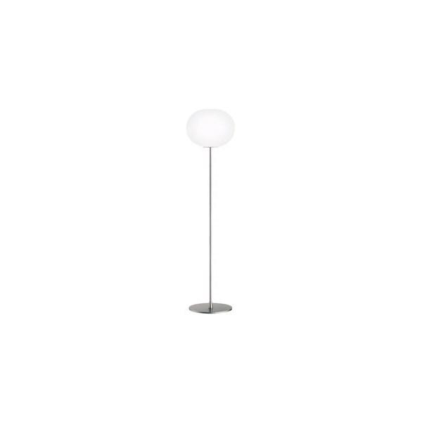 Milano  F3 Floor Lamp Matt Silver with Opal Glass