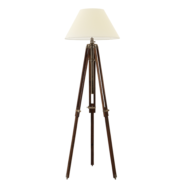 Large Floor Lamp Brown Including Shade