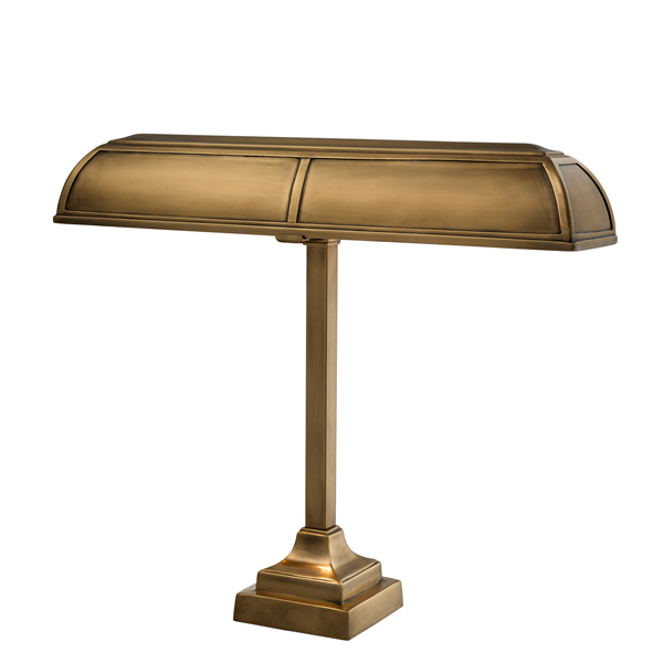 Lamp Banker Brass Finish