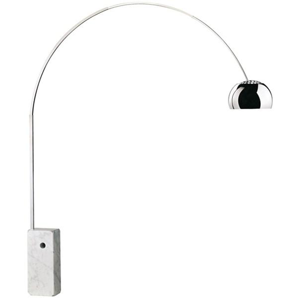 Floor Lamp Marble Base Aluminum Direct Light