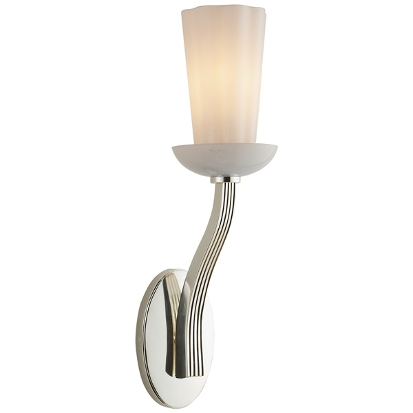 Beauvoir  Sconce with White Glass