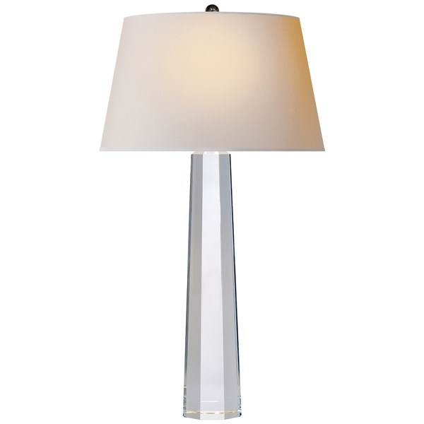 Octagonal Table Lamp in Crystal