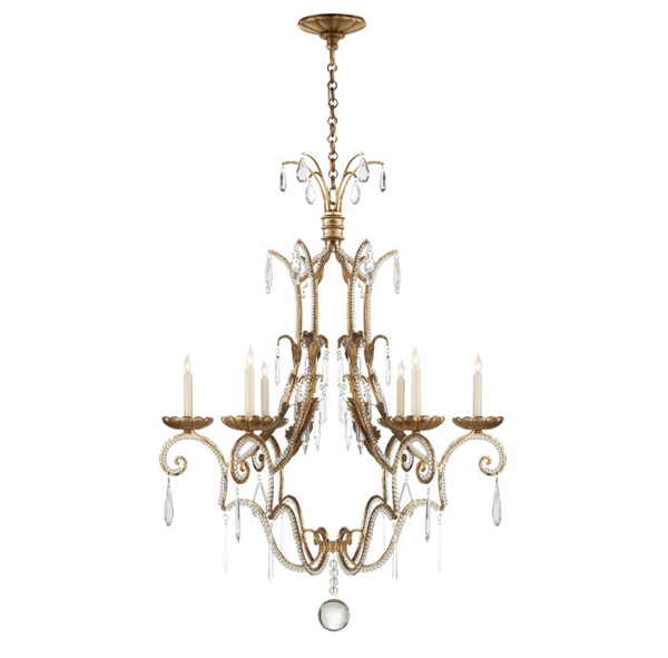 E. F. Chapman Middleton 6-Light Chandelier Crystal