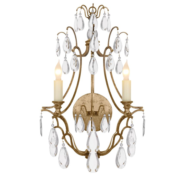 E. F. Chapman Penhurst Clear Crystal Wall Light Clear Glass