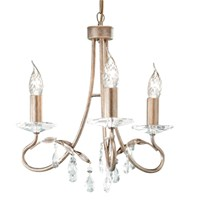 Christina 3-Light Chandelier Silver/Gold