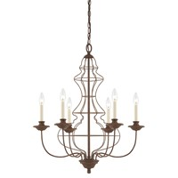 Laila 6-Light Chandelier Rustic Antique Bronze