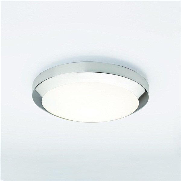 Dakota 300 A modern flush ceiling light with opal glass cover