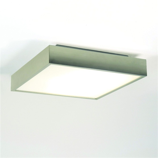 Taketa Square ceiling light with white glass diffuser