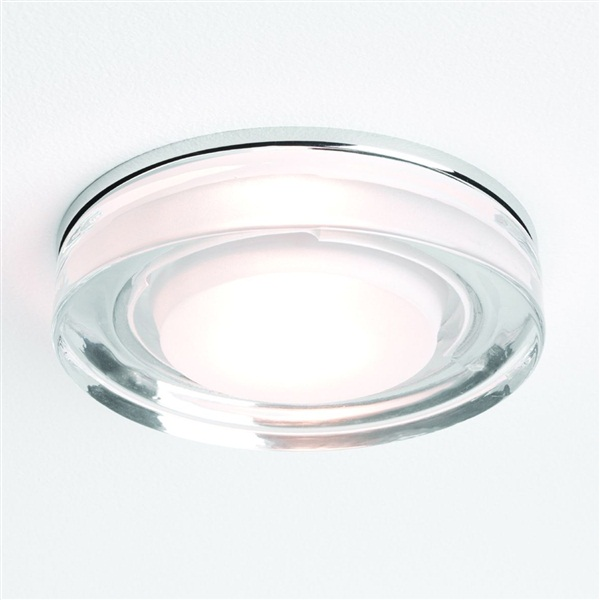 Vancouver Square Glass and Chrome Downlight