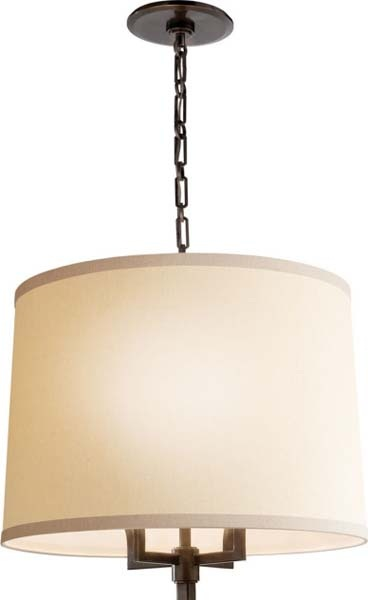 Troyat  Chandelier with Linen Shade