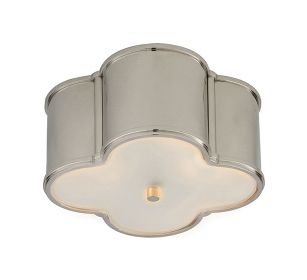 Small Basil Flush Mount with Frosted