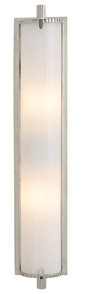Verne  Bath Light With White Glass, Polished Nickel