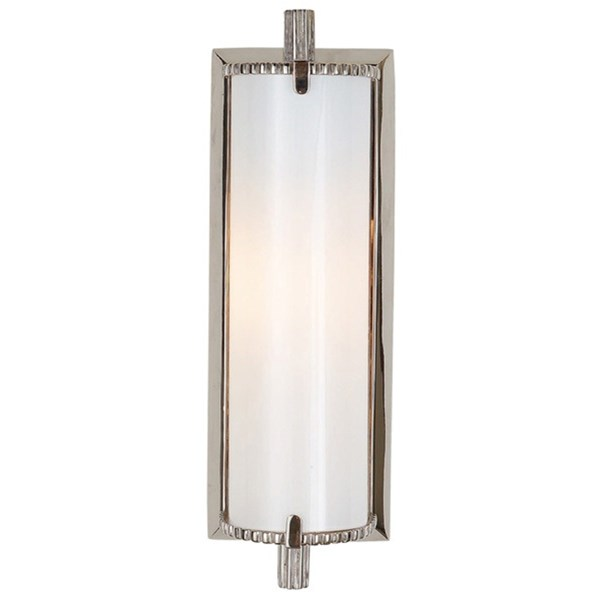 Verne  Small Wall Light With White Glass