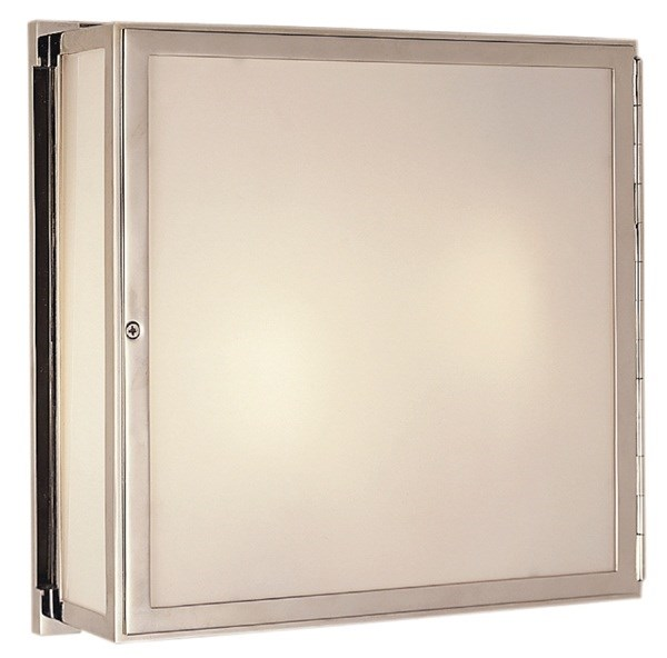 Thomas OBrien Mercer White Glass Square Box Light